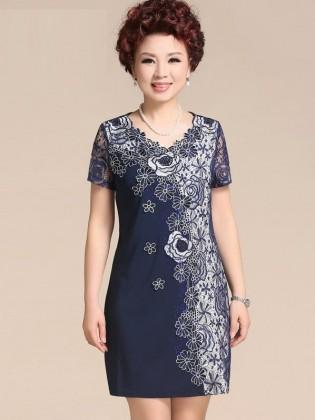 Váy đầm trung niên cao cấp TNVDFM0002