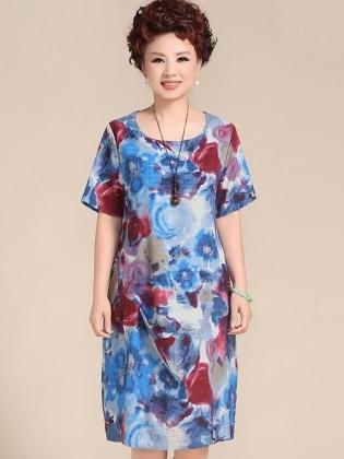 Váy đầm trung niên cao cấp TNVDFM0011