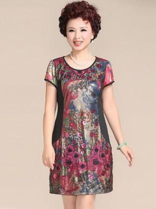 Váy đầm trung niên cao cấp TNVDFM0010
