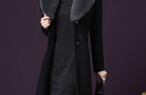 Áo dạ trung niên dáng dài hàn quốc duyên dáng cho phụ nữ U50