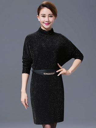 Đầm suông tay dài nhũ ánh kim sang trọng TV502