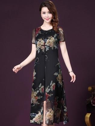 Đầm hoa mang đến cho nàng nét đẹp quý phái