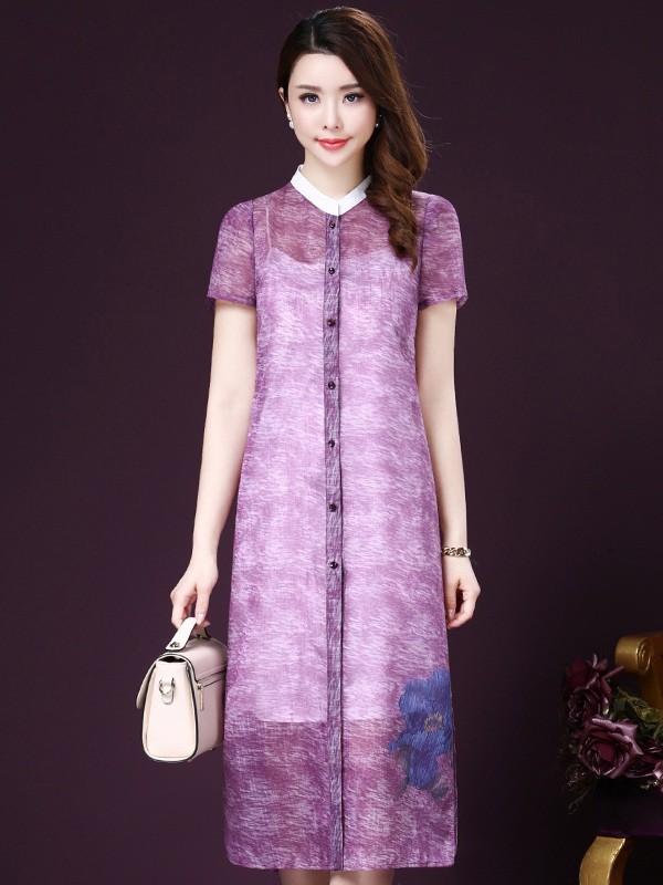 Đầm voan tím 2 lớp trang nhã mang đến vẻ đẹp nhẹ nhàng, quyến rũ và hiện đại