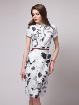 Đầm suông họa tiết phối dây lưng thời trang TV1045