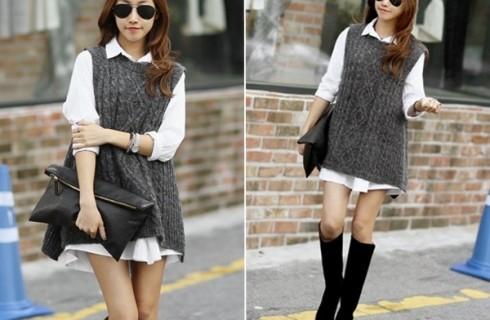 Cách mix áo len gile nữ đẹp cho nàng công sở cả tuần không nhàm chán