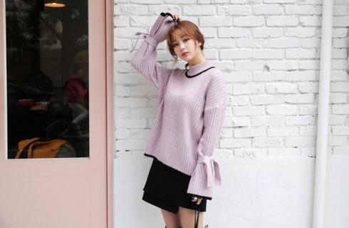 Muôn kiểu biến tấu với áo len nữ thu đông 2017