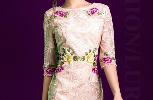 Gợi ý các mẫu váy suông tuổi trung niên sang trọng