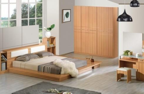 Giường ngủ gỗ công nghiệp mdf giá rẻ bán ở đâu uy tín tại đe la thành
