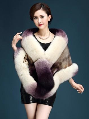 Áo choàng lông chồn cao cấp AKDYRX0003