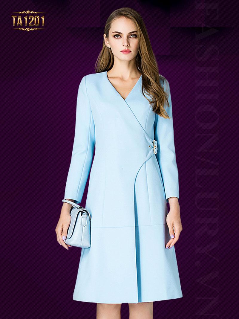 Áo khoác mangto dáng váy thắt đai chéo thời trang TA1201