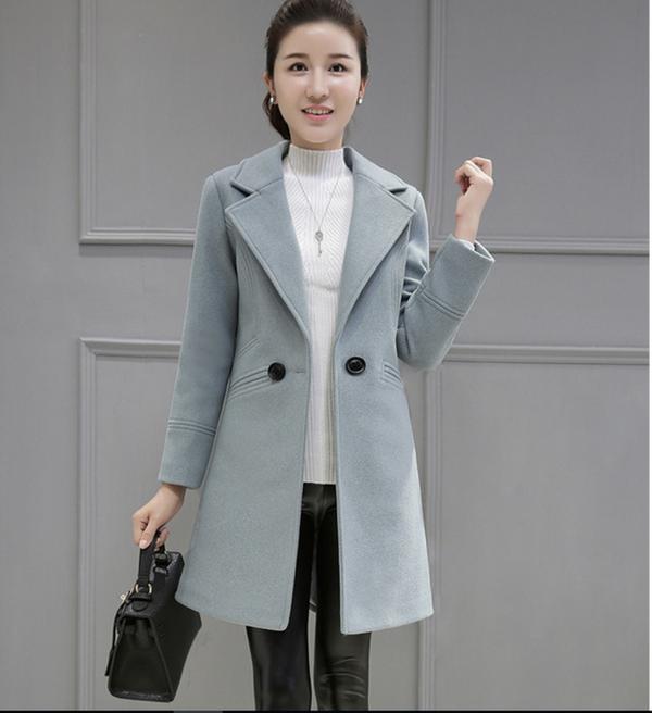 Mẫu áo dạ nữ Hàn Quốc cao cấp cuốn hút
