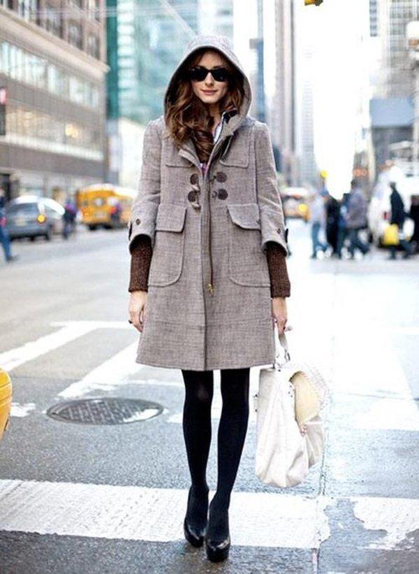 Những kiểu áo khoác dạ nữ có mũ cho quý cô công sở