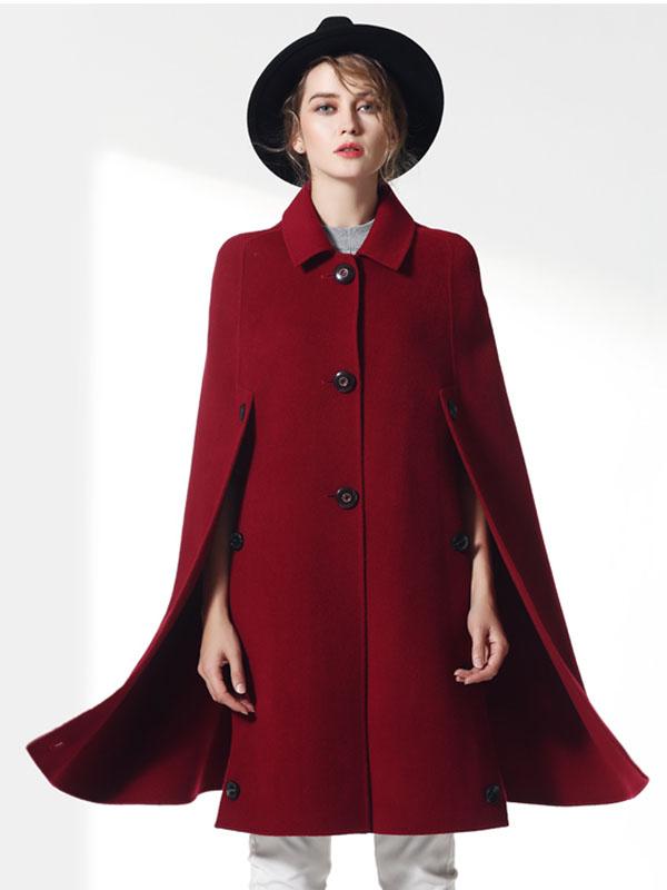 Áo khoác dạ cape nhập khẩu tôn vinh nét đẹp sang trọng, quyền quý
