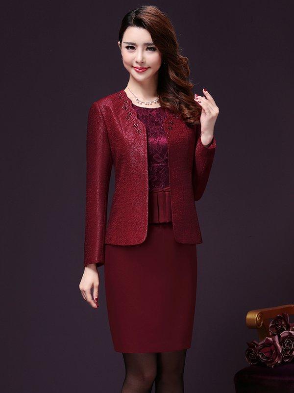 Thời trang áo vest nữ trung niên cao cấp