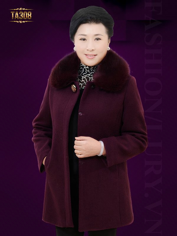 Mẫu áo dạ mang đến cho quý cô trung niên cảm giác một mùa đông thật ấm áp