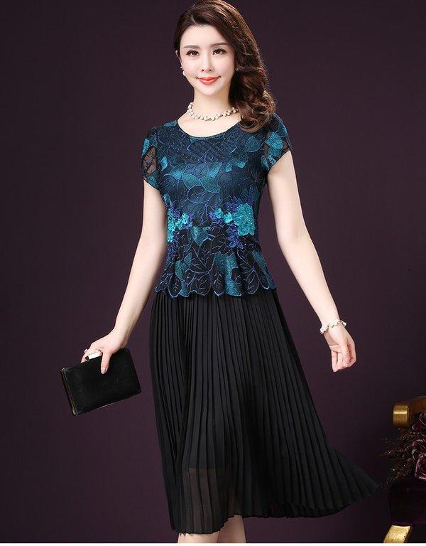 Mẫu váy xòe trung niên thể hiện trọn vẹn vẻ đẹp riêng cho người mặc