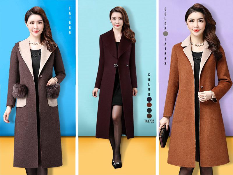Gợi ý cách mặc áo khoác dạ cho quý bà tuổi trung niên trẻ thêm vài tuổi