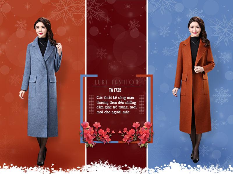 áo khoác dạ nữ dáng dài  thời trang, thanh lịch