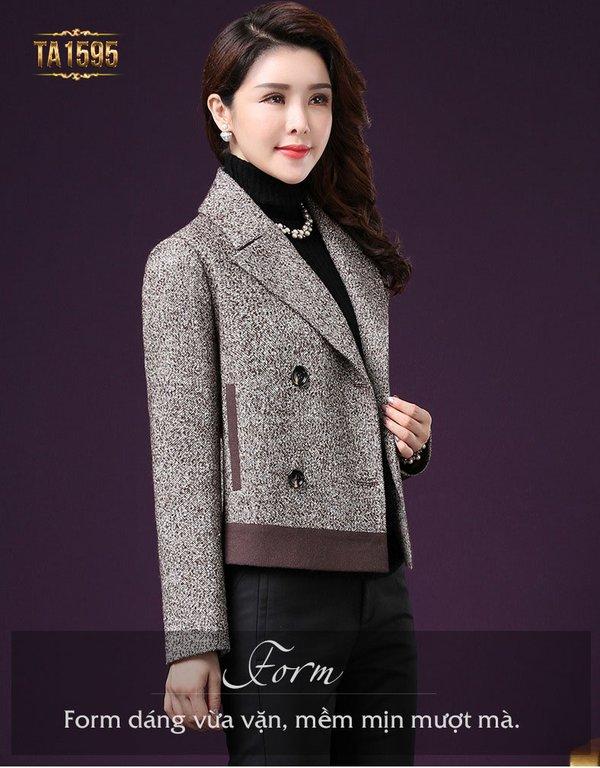 Áo khoác dạ nữ trung niên Hàn Quốc, thiết kế phong cách mới mang đến sự trẻ trung cho chị em